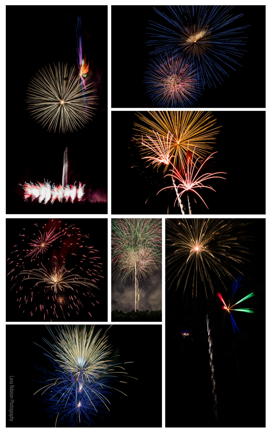 2015 fireworks collage